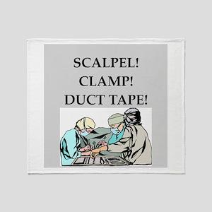funny surgeon jokes Throw Blanket