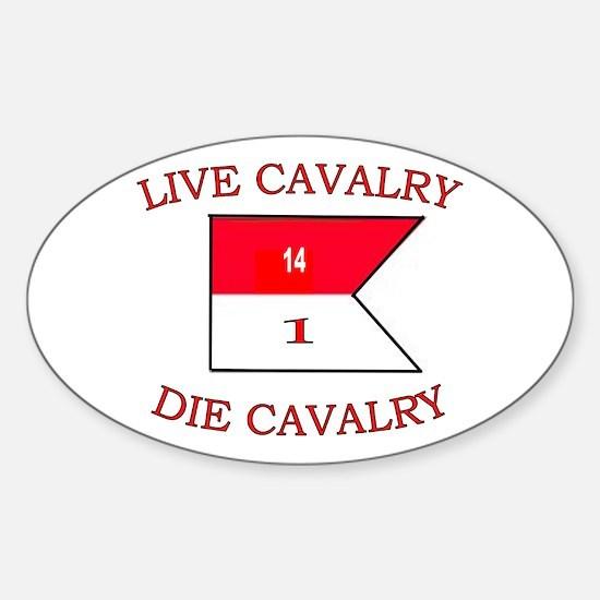 1st Squadron 14th Cavalry Sticker (Oval)