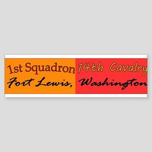 1st Squadron 14th Cavalry Sticker (Bumper)