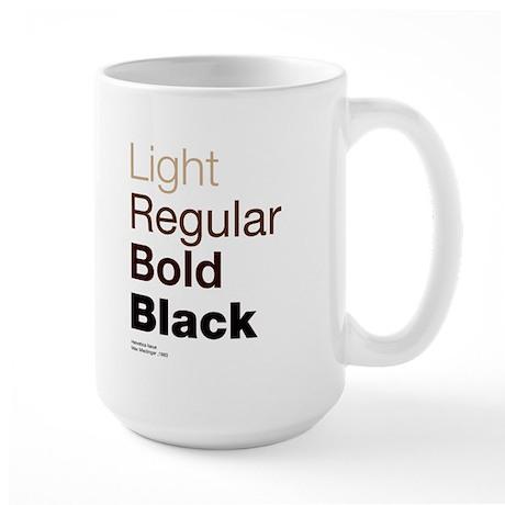 Helvetica Neue Large Mug
