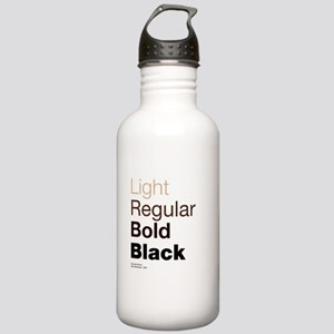 Helvetica Neue Stainless Water Bottle 1.0L
