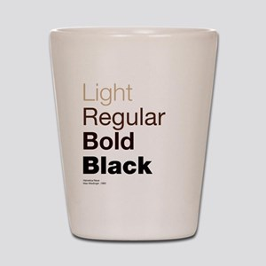 Helvetica Neue Shot Glass