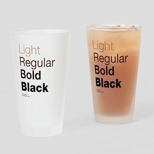 Helvetica Neue Drinking Glass