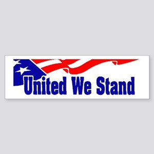 United We Stand Flag Bumper Sticker