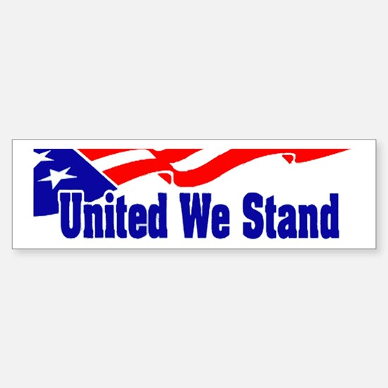 United We Stand Flag Bumper Bumper Bumper Sticker