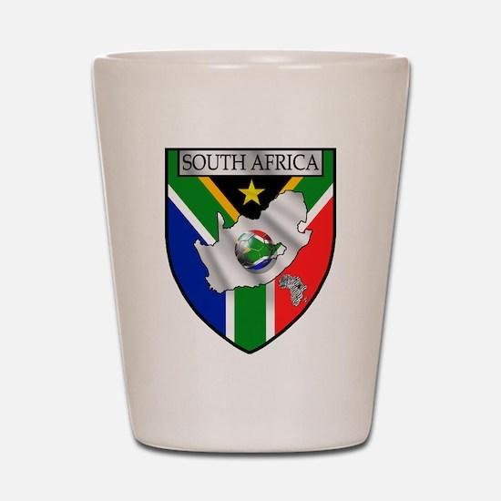 South African Soccer Shot Glass