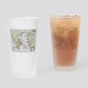 Athenian Empire Color Map Drinking Glass