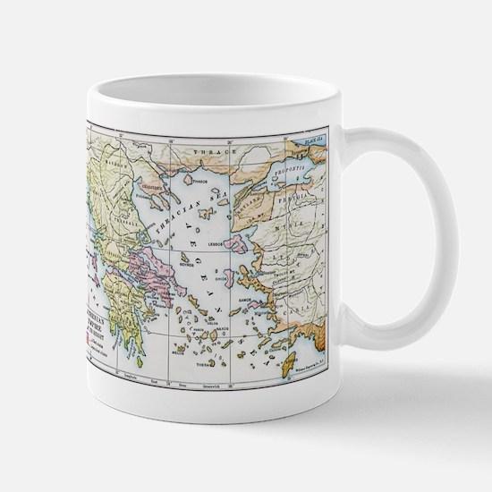 Athenian Empire Color Map Mug
