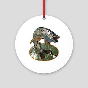 Musky Fishing Ornament (Round)