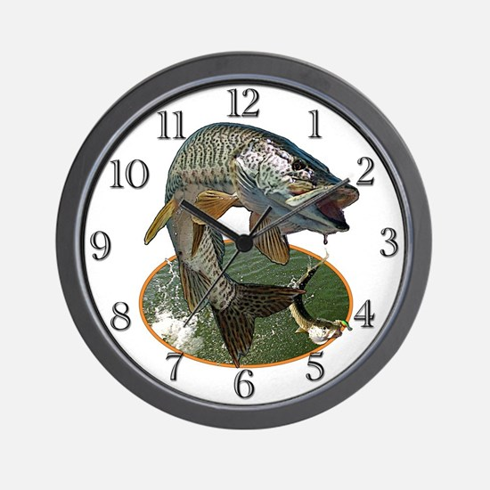 Musky Fishing Wall Clock