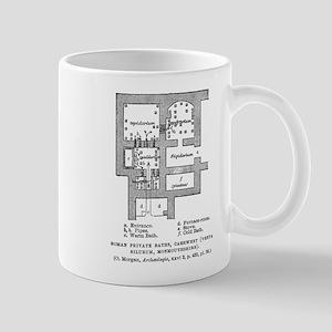Caerwen, England Bath Plan Mug
