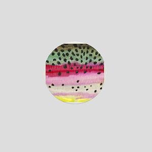 Rainbow Trout Skin Fishing Mini Button