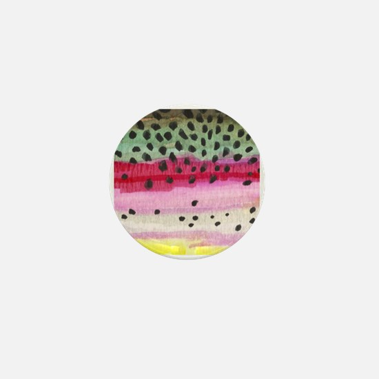 Rainbow Trout Skin Fishing Mini Button