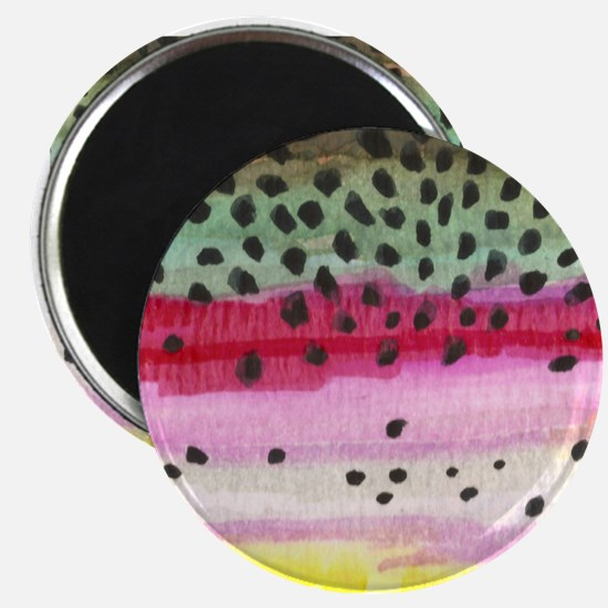 Rainbow Trout Skin Fishing Magnet