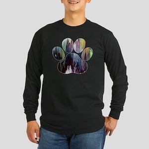 Dog Paw Long Sleeve T-Shirt
