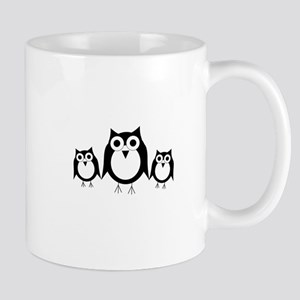 Black and white owls Mug