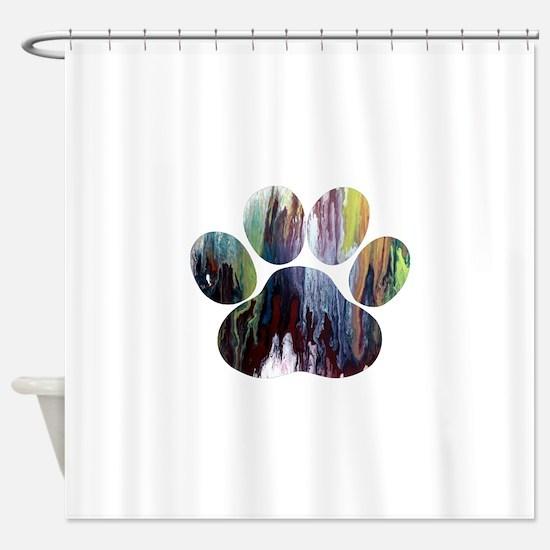 Dog Paw Shower Curtain