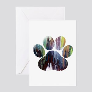 Dog Paw Greeting Cards