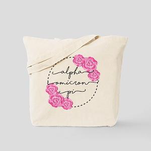 Alpha Omicron Pi Floral Tote Bag