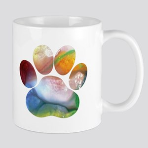 Dog Paw Art Mugs