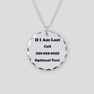 Call Me Necklace Circle Charm