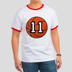 Basketball Player Number 11 Ringer T