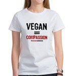 VEGAN=COMPASSION - Women's T-Shirt