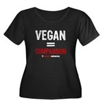 VEGAN=COMPASSION - Women's Plus Size Scoop Neck Da
