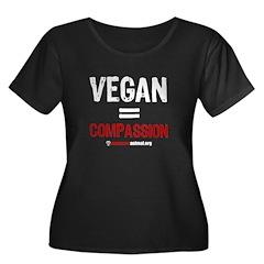 VEGAN=COMPASSION - Women's Plus Size Scoop Neck Da