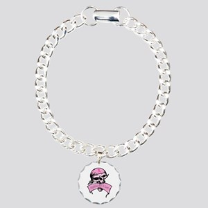 Breast Cancer Skull -- Fighting For A Cure Charm B