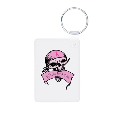 Breast Cancer Skull -- Fighting For A Cure Aluminu