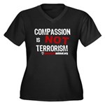 COMPASSION IS NOT TERRORISM - Women's Plus Size V-