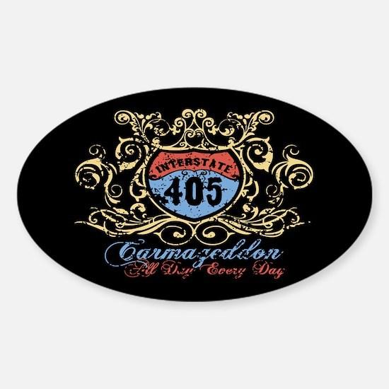 Carmageddon 405 Sticker (Oval)