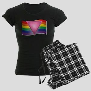 Flag and Triangle Women's Dark Pajamas