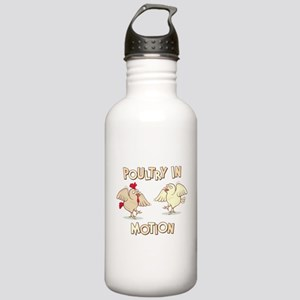 """""""Poultry in Motion"""" Stainless Water Bottle 1.0L"""
