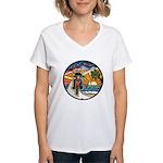 Motorcycle Skyway #1 Women's V-Neck T-Shirt