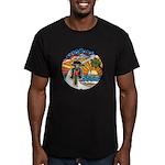Motorcycle Skyway #1 Men's Fitted T-Shirt (dark)