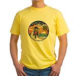 Motorcycle Skyway #1 Yellow T-Shirt