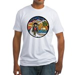 Motorcycle Skyway #1 Fitted T-Shirt