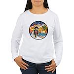 Motorcycle Skyway #1 Women's Long Sleeve T-Shirt