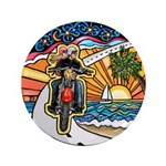 """Motorcycle Skyway #1 3.5"""" Button"""
