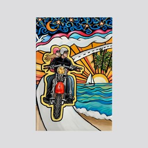 Motorcycle Skyway #1 Rectangle Magnet