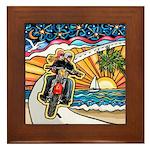 Motorcycle Skyway #1 Framed Tile