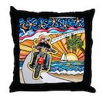 Motorcycle Skyway #1 Throw Pillow