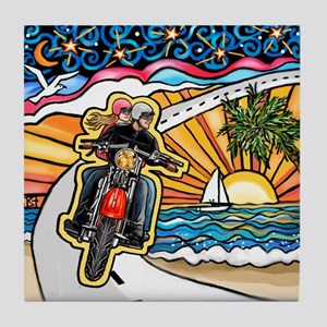 Motorcycle Skyway #1 Tile Coaster