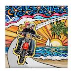 Motorcycle Skyway #1 Tile Coaster