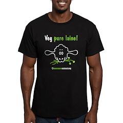 VEG PURE LAINE - Men's Fitted T-Shirt (dark)