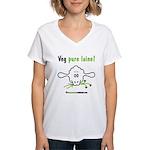 VEG PURE LAINE - Women's V-Neck T-Shirt