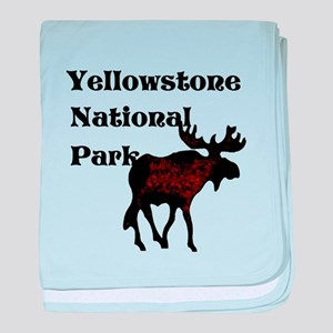 Personalized Moose baby blanket