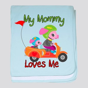My Mommy Loves Me Scooter baby blanket